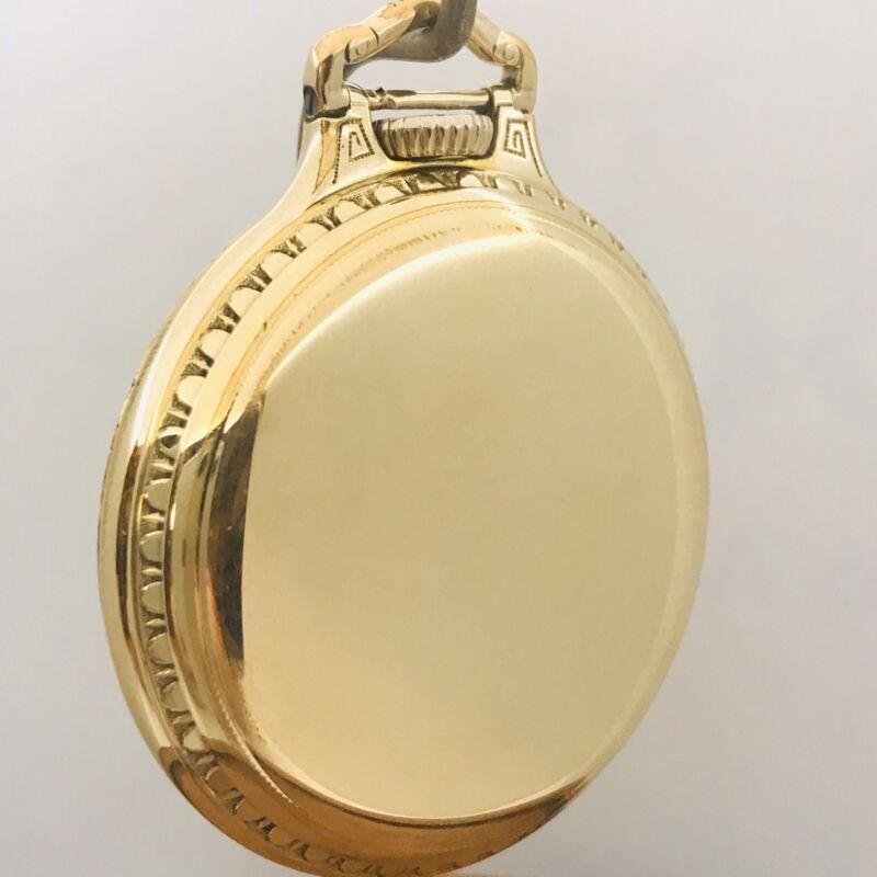 WOW 16S Hamilton Factory Model 2 10K Gold Filled BOC Pocket Watch Case L170-1