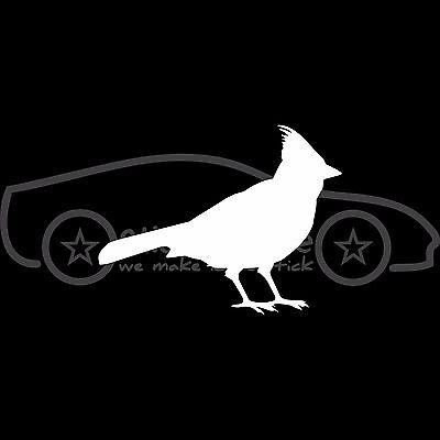 CARDINAL Sticker Silhouette Bird Vinyl Decal Fly Free Red White Car Truck - Silhouette Birds