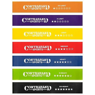 Contraband Sports 7439 Resistance Hip Bands / Booty Bands / Ankle Bands Set