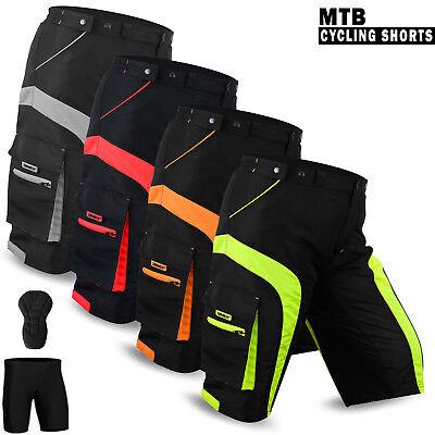 Cycle Liner Shorts (Mens Cycling MTB Shorts Off Road Cycle Bicycle CoolMax Padded Liner Shorts NEW)
