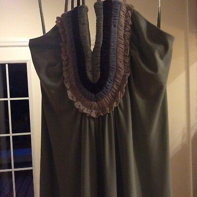 BCBG Max azria Casual Matte Jersey Long Halter Dress Willow Green XXS SZO6B818