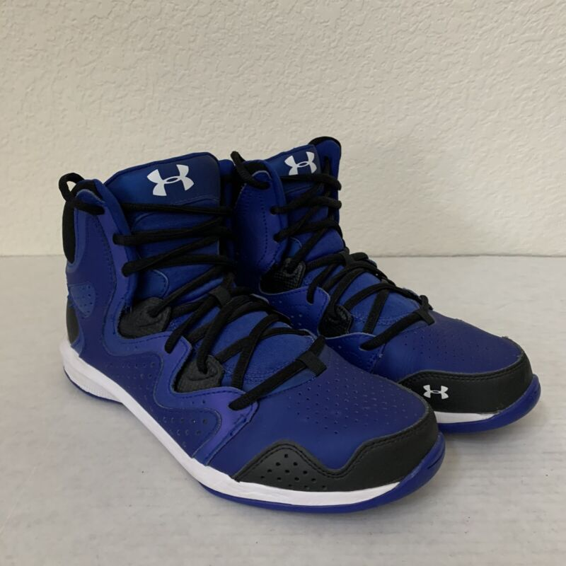 Under Armour Youth Shoes Size 7Y Basketball Blue.