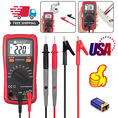 Digital Lcd Multimeter Ac Dc Voltage Tester Auto Range Nt8233d Pro Ohm Backlight