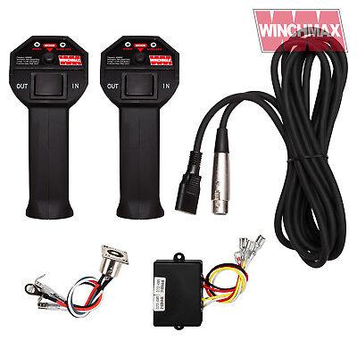 WIRELESS WINCH REMOTE CONTROL TWIN HANDSET WINCHMAX 12 VOLT + LEAD + SOCKET
