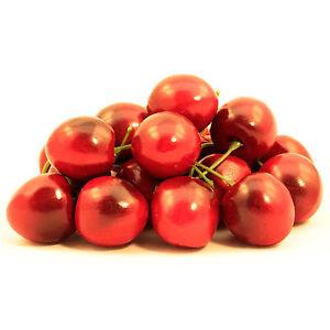20 Kirschen Deko künstliche Dekokirschen Dekofrüchte Kunstobst Dekoration Cherry
