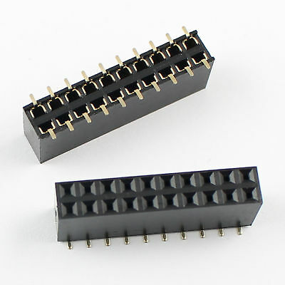 50pcs 2.54mm Pitch 2x10 Pin 20 Pin Female Double Dual Row Smt Pin Header Strip