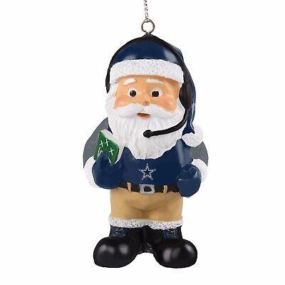 Dallas Cowboys Coach Santa Resin Holiday Christmas Tree Ornament New (Dallas Cowboy Ornaments)