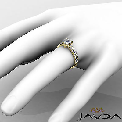 Women's Heart Diamond Engagement Prong Set Yellow Gold Ring GIA H Color VVS2 1Ct 4
