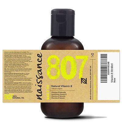 Naissance Natürliches Vitamin E Öl - 60ml - Naturkosmetik Haarpflege Hautpflege