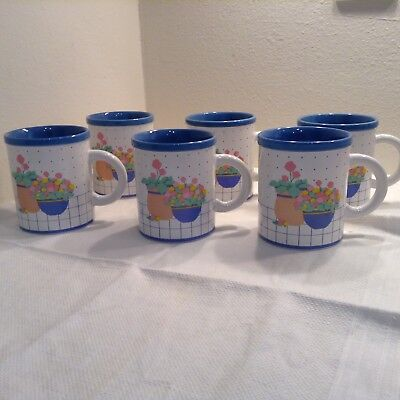 6 Ceramic Coffee Mugs