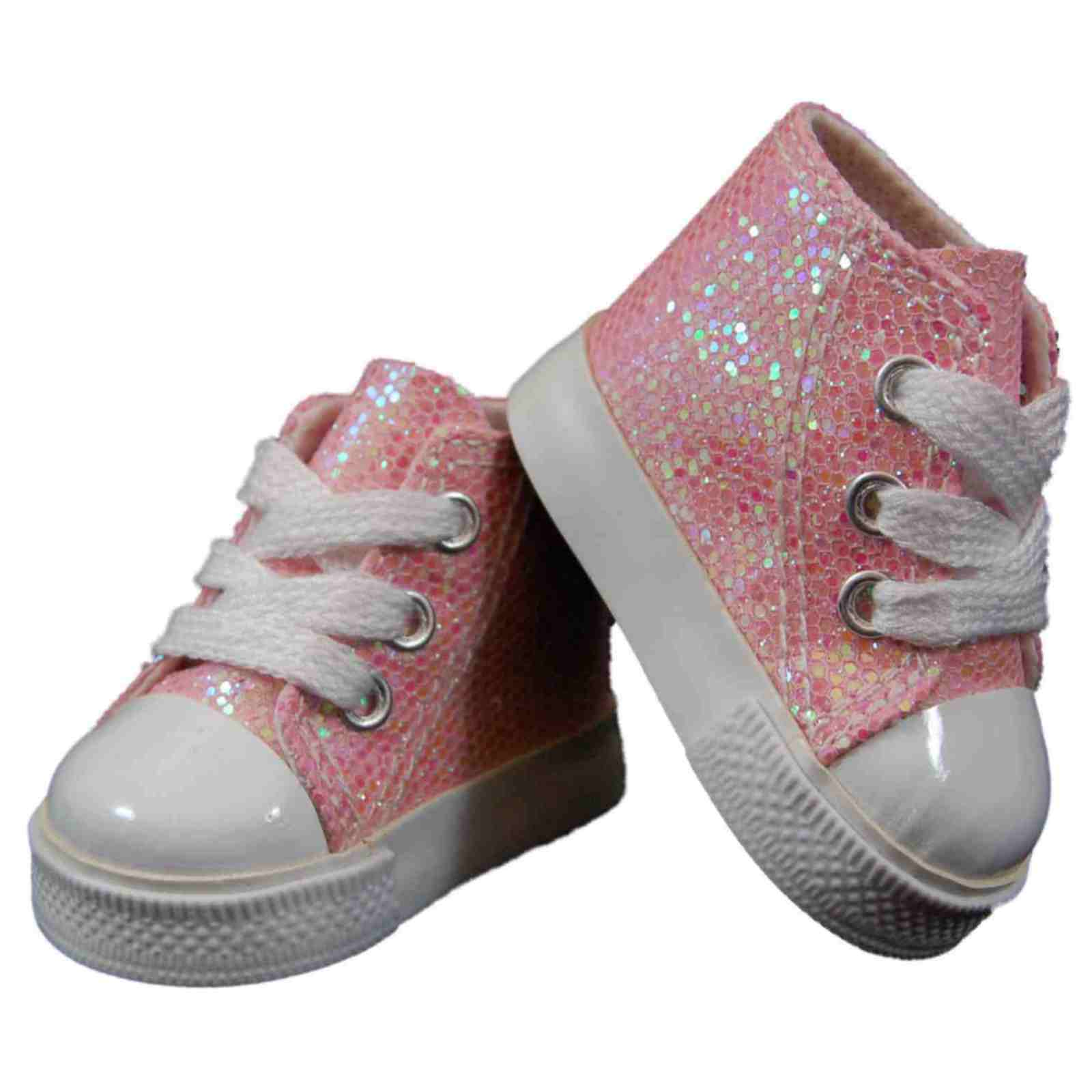 Купить The Queen's Treasures - 18 Doll Shoes Pink High Top Sneakers +Box Fit American Girl Clothes Accessories