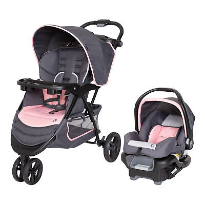 Baby Trend EZ Ride Travel System Infant Stroller And Car Seat Combo Girls New