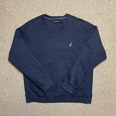 Nautica Navy Blue Crew Neck Casual Jumper Sweatshirt L
