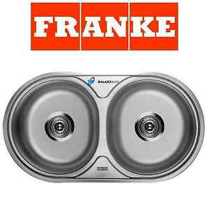 Franke 2 Bowl Sink : FRANKE ROUND DOUBLE 2.0 BOWL DRAINER & WASTE STAINLESS STEEL KITCHEN ...