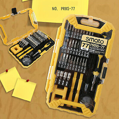 77PCS Precision Screwdriver Bit Repair Opening Tool Kit for Mobil Smartphone