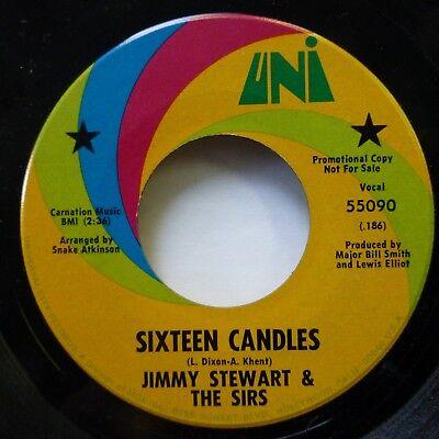 Jimmy Stewart The Sirs 45 Sixteen Candles Uni Promo Near Mint    Ws1428