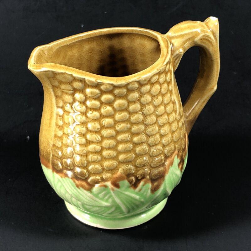 Vintage Japan Miniature Ceramic Corn on the Cob Creamer Pitcher Ceramic AS IS
