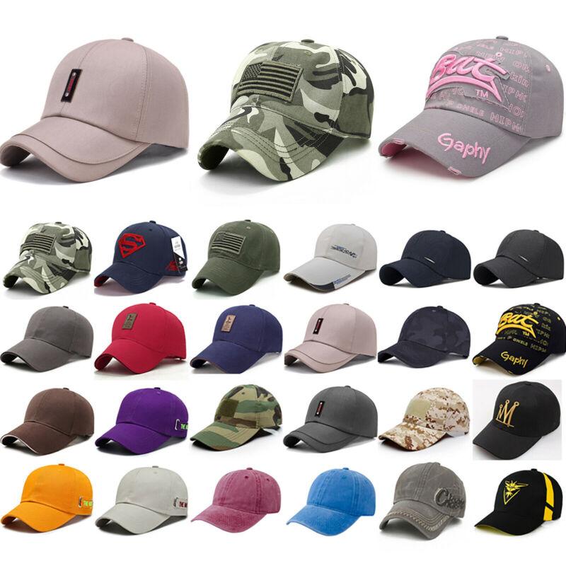 Herren Damen Baseball Cap Basecap Mütze Kappe Sonnenhut Sommer Gym Sport Hut Hat