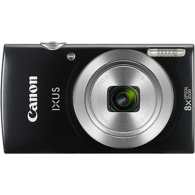 CANON Ixus 185 Digitalkamera Schwarz 20 Megapixel 8x opt. Zoom LCD NEU OVP - 20 Digital Kamera