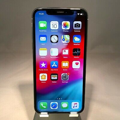 Apple iPhone X 64GB Silver AT&T Unlocked - Good Condition - Screen Burn in