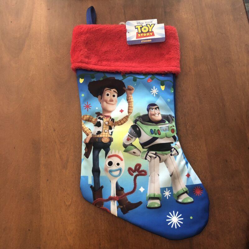 Disney Pixar Toy Story Buzz Lightyear Woody Christmas Stocking  NEW