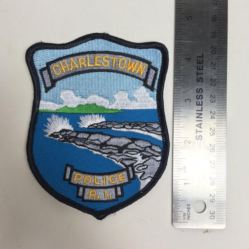 CHARLESTOWN POLICE RI PATCH RHODE ISLAND SSI BREACHWAY FISHING