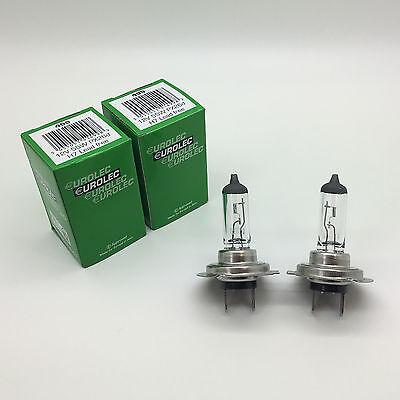 2 x Eurolec H7 499 Halogen Car Dipped Headlamp Headlight Bulb 477 12v 55w PX26d