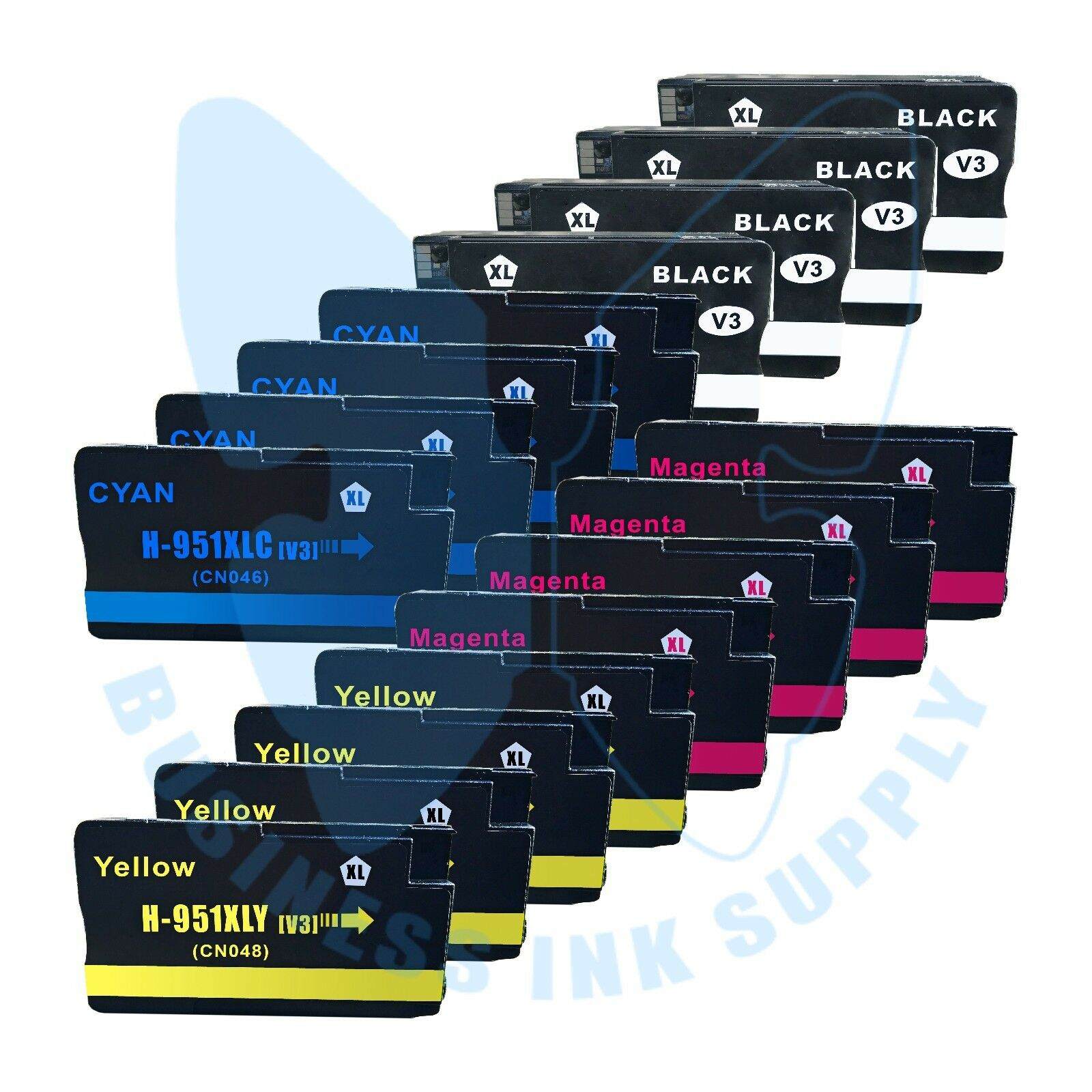 16 Pack 950xl Ink Cartridges 951xl For Hp Officejet 8600 ...