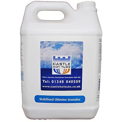 Chlorine Granules 5Kg for Hot Tubs Swimming Pools & Spas Chemicals Hot tubs CHT