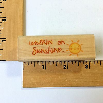 Image Tree Rubber Stamps - EK Success Image Tree Rubber Stamps - Walkin on Sunshine IT28A - NEW