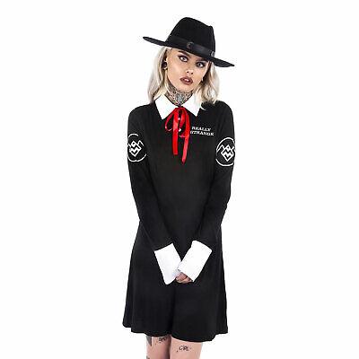 KILLSTAR Ghostwood I'm Strange Dress Gothic Kleid Rücken-Print Schoolgirl Emo Gothic School Girl