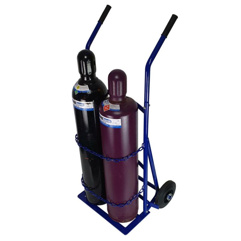E Size Welding Cylinder Trolley (MED) Rubber wheel - Oxy Acetylene