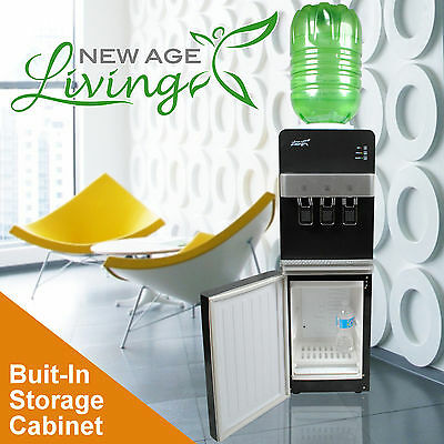 New Age Living Floor Standing Electric Hot Cold Water Dispenser 5 Gallon  !
