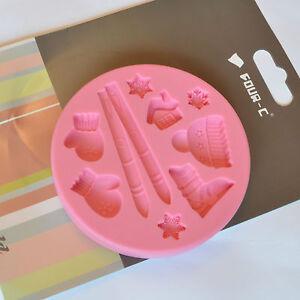 CHRISTMAS SKI Design Mould Silicone Mold Cake Decorating Equipment UK SELLER