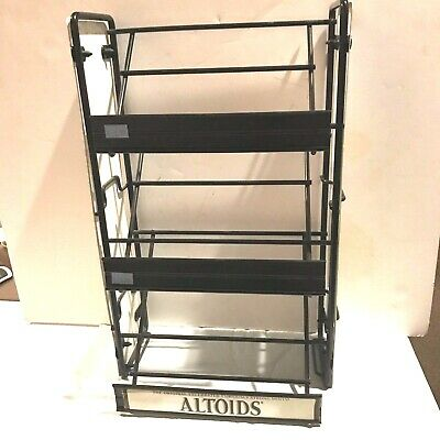 Retail Shelf Counter Top Snack 3 Tier Candy Counter Black Display Rack