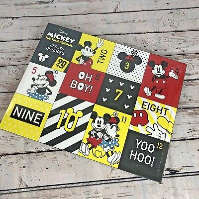 Disney's Mickey Mouse 90th Anniversary Women's 12 Days Of Socks Advent Calendar