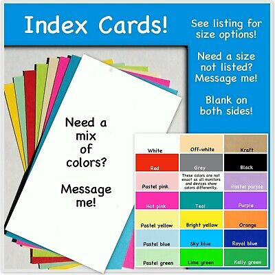 Index Cards Recipe Cards Note Cards 4x6 3x5 3 12 X 5 Blank No Rule Card Stock