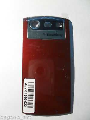 Blackberry Pearl Battery Cover (BlackBerry Pearl 8130 Red Bourgundy Battery Door Cover Back Housing OEM Original)