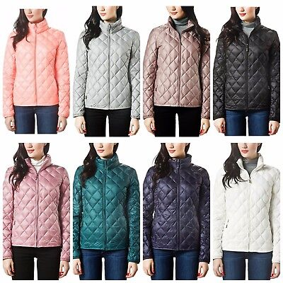 Puffer Coat Women Quilted Jacket Lightweight Packable Zipper Closure Winter (Best Packable Puffer Jacket)