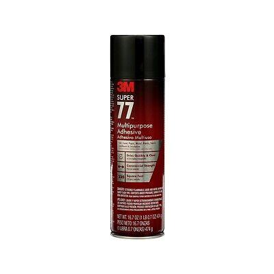 3m Super 77 Multi-purpose Adhesive Spray 16.75 Oz. Commercial Strength - New