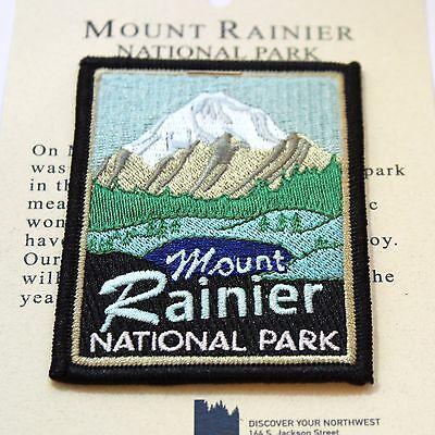 Official Mount Rainier National Park Souvenir Patch - Washington Mt.