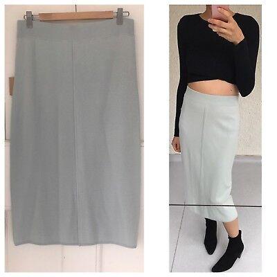 Fitted High Waisted Light Blue Midi Skirt By Australian Fashion Brand Bul Sz M