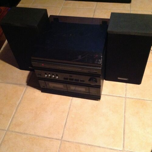 Panasonic SG-HM09A Stereo Compact System Dual Cassettes Deck Turntable