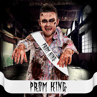 Prom King Prom Queen Sash MENS Costume Halloween Accessory Night Fun Him ! &P+P - Prom King Sash Halloween