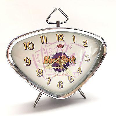 Hard Rock Hotel Las Vegas Alarm Clock Wind Up Retro Mid Century Modern Atomic