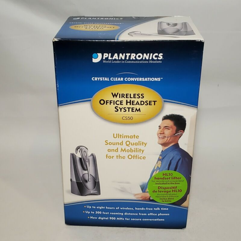 PLANTRONICS CS50 900 Mhz Wireless Office Headset System W/HL10 Lifter NEW SEALED
