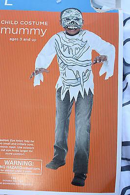 Costume NWT  MUMMY  SZ L 10/12 2 PC Top & Mask Halloween](Top 10 Masks Halloween)