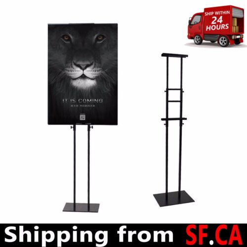 5 pcs,Height adjustable poster stand, double sided, black(stand)