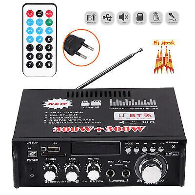 300w+300w Bluetooth Estéreo Amplificador de audio HiFi Música SD USB FM 220V