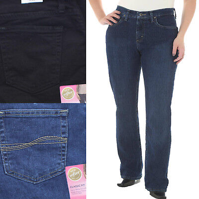 Riders by Lee Womens Irregular Classic Fit Mid Rise Straight Leg Jeans
